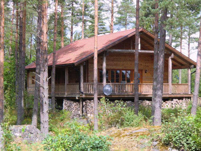 Blockhaus Schweden am See - Haus Dachsbau