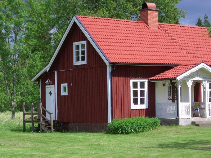 ferienhaus schweden landhaus frontansicht