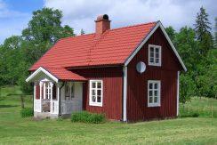 Ein niedliches und typisch schwedisches Haus