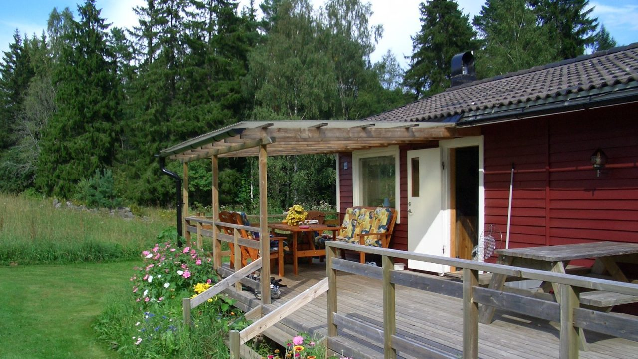 Terrasse, teilweise überdacht