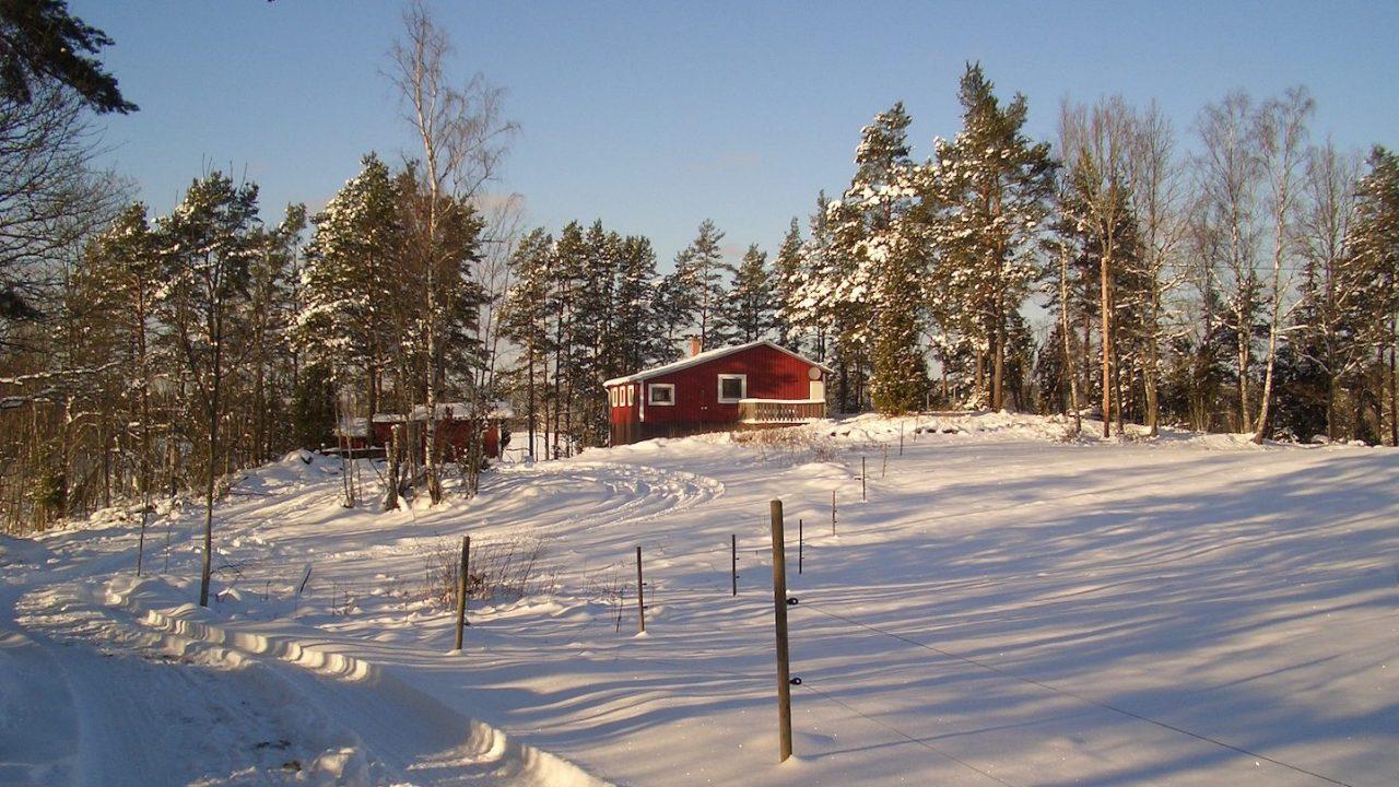 Auch den Winter kann man in diesem Haus genießen
