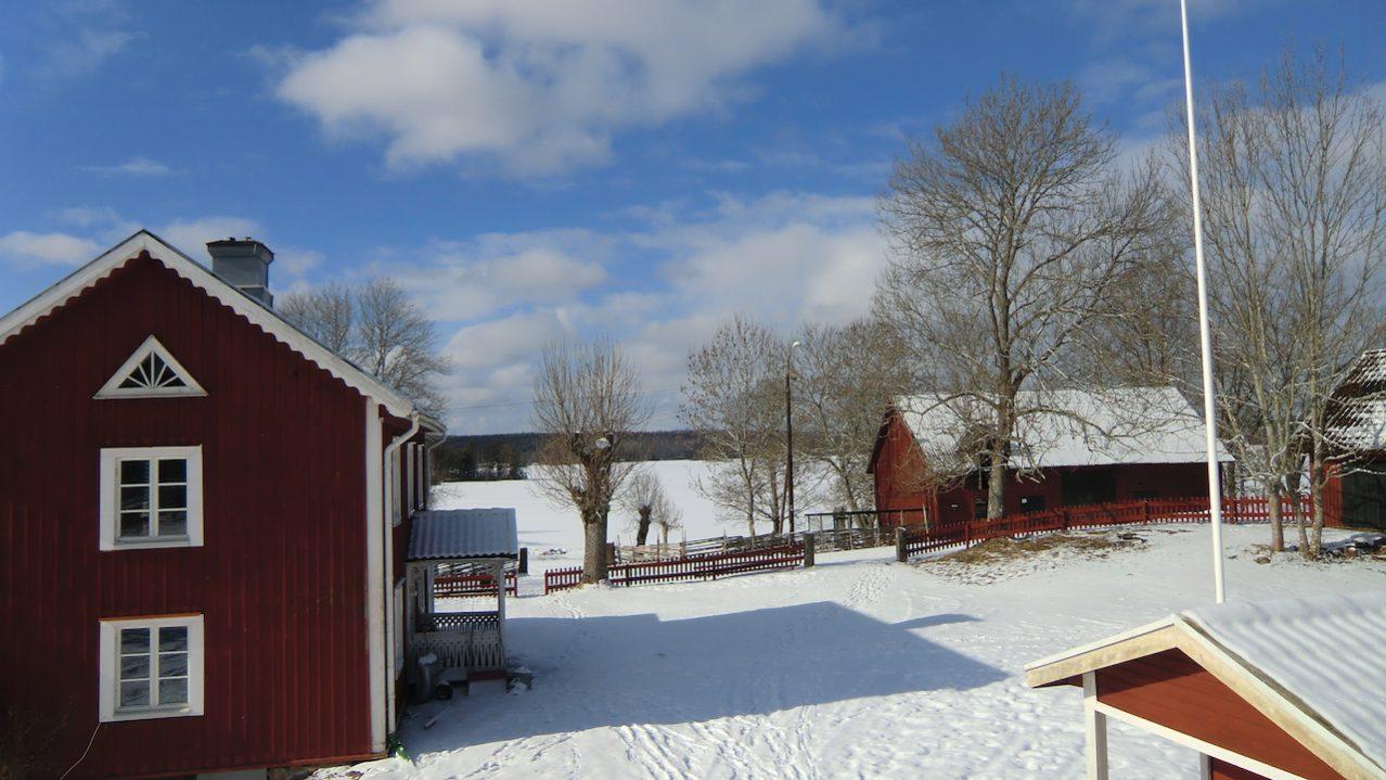 Winter im Haus am Urasjön