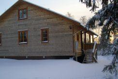 Das Blockhaus ist absolut winterfest