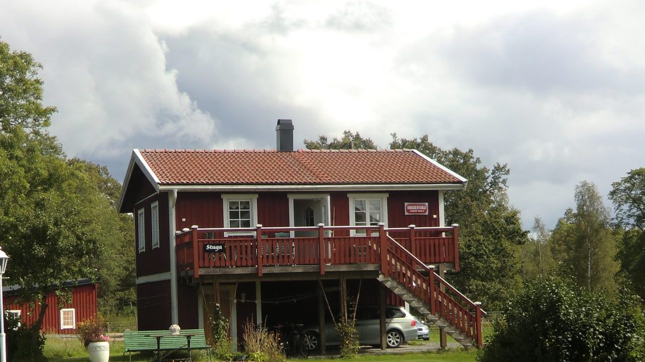Haus am Urasjön, tolle Lage im Dorf Uranäs
