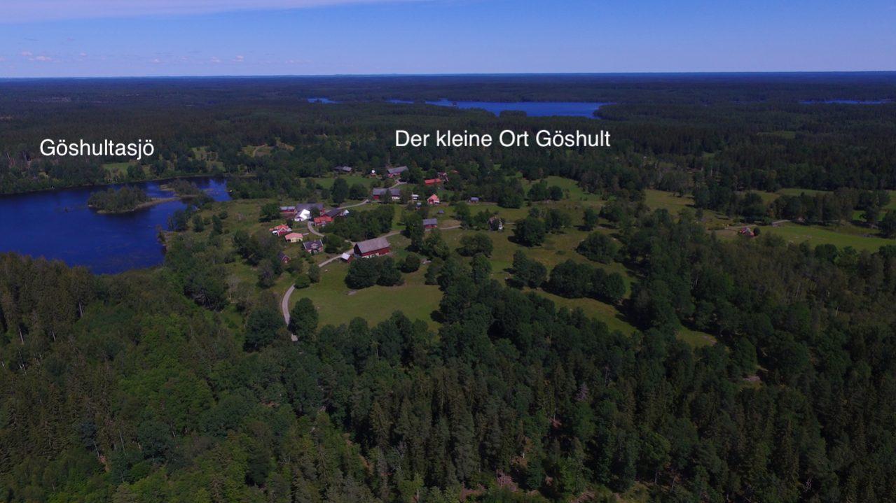 Der Ort Göshult ist ca. 400 m entfernt vom Haus