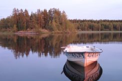 Der See Kiasjön in Südschweden