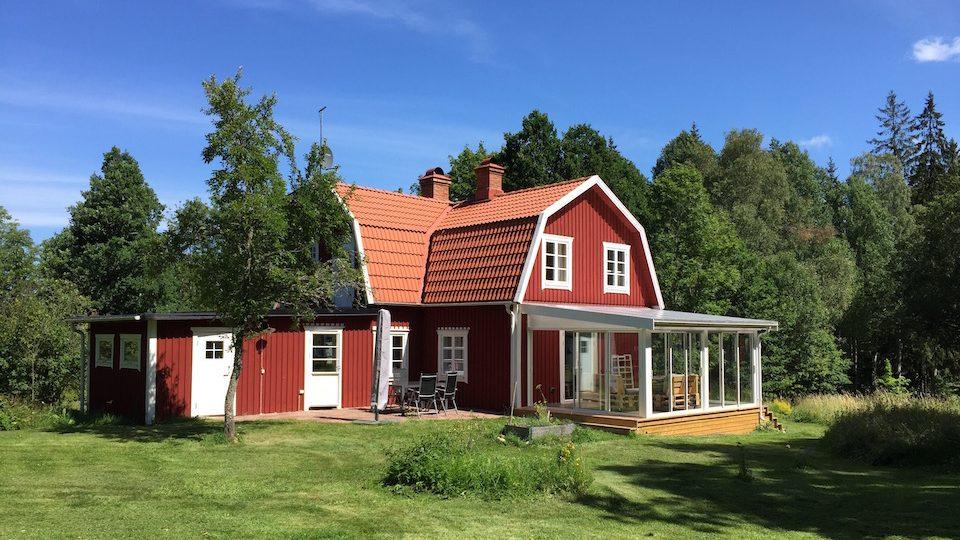 Haus Göshult mit dem neu angebauten Wintergarten