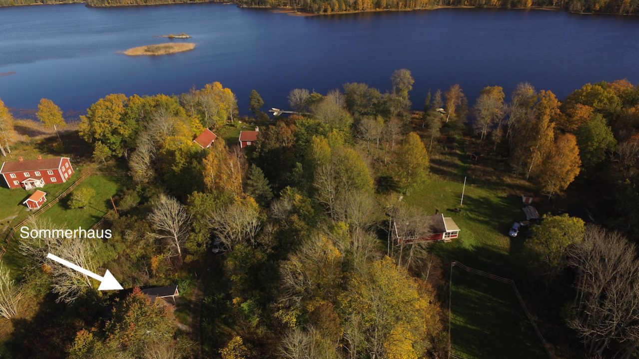 Tolle Lage nur 90 m vom See Kiasjön entfernt
