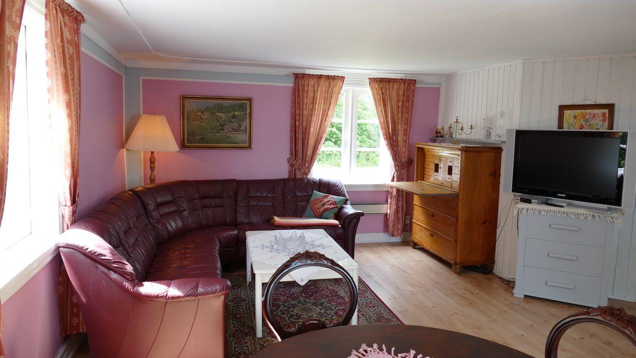 Wohnzimmer mit Ledergarnitur