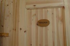 Eingang zur Sauna vom Bad