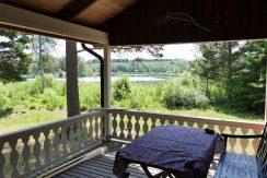 Blick von der Terrasse auf den See Kiasjön
