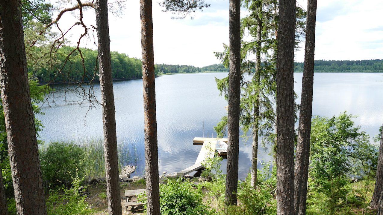 Ein wahnsinniger Ausblick auf den See von der Terrasse