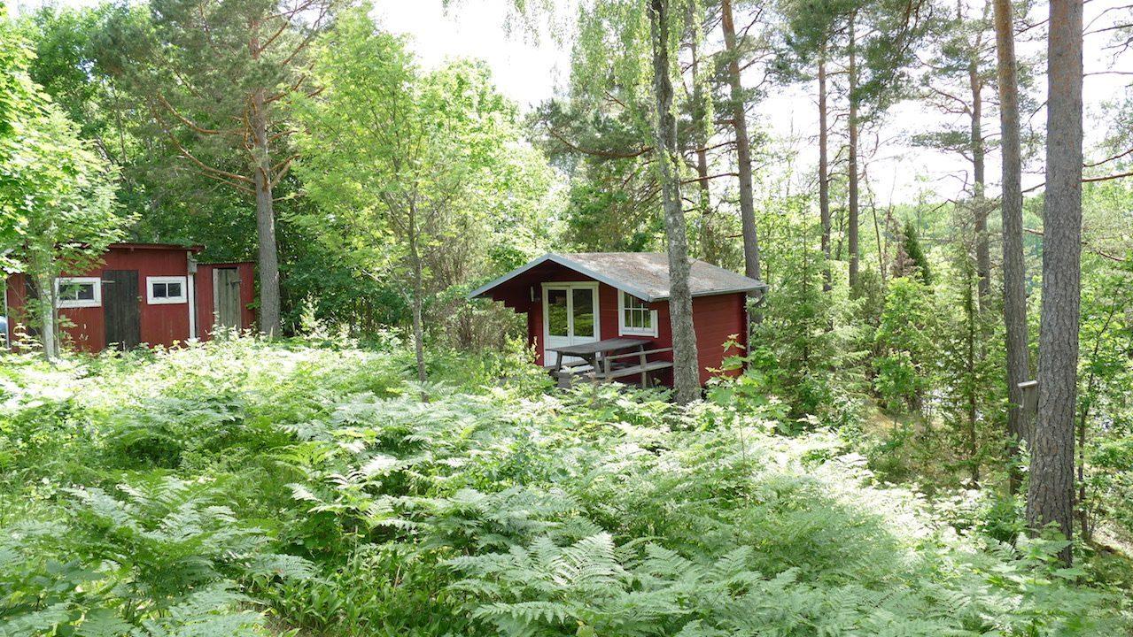 Die Sauna im separaten Gebäude mit Seeblick