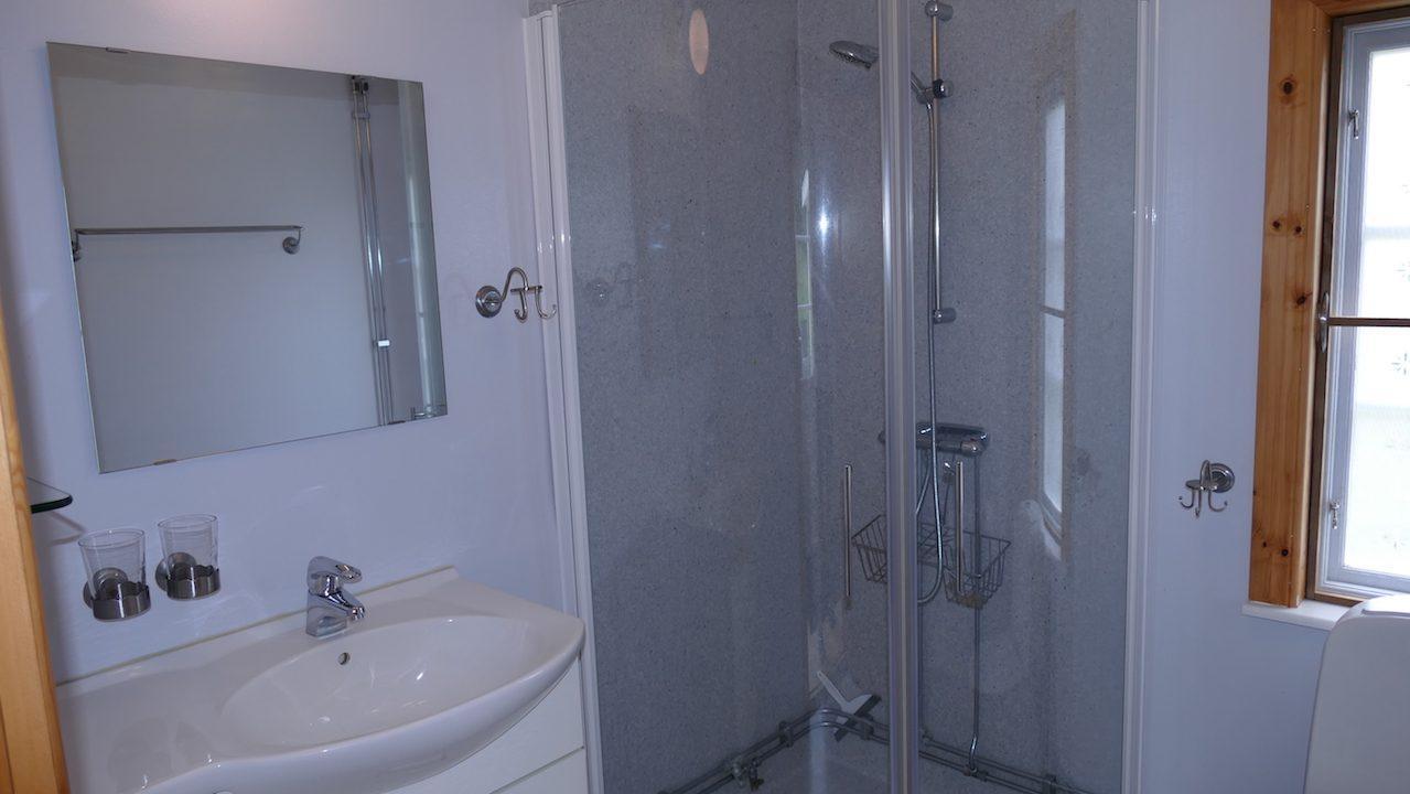Duschbad im Erdgeschoss neben der Küche