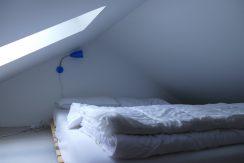 Schlafmöglichkeit für 2 Personen im Loft im Obergeschoss