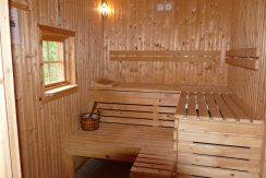 Sauna mit Zugang vom Bad und zur Terrasse