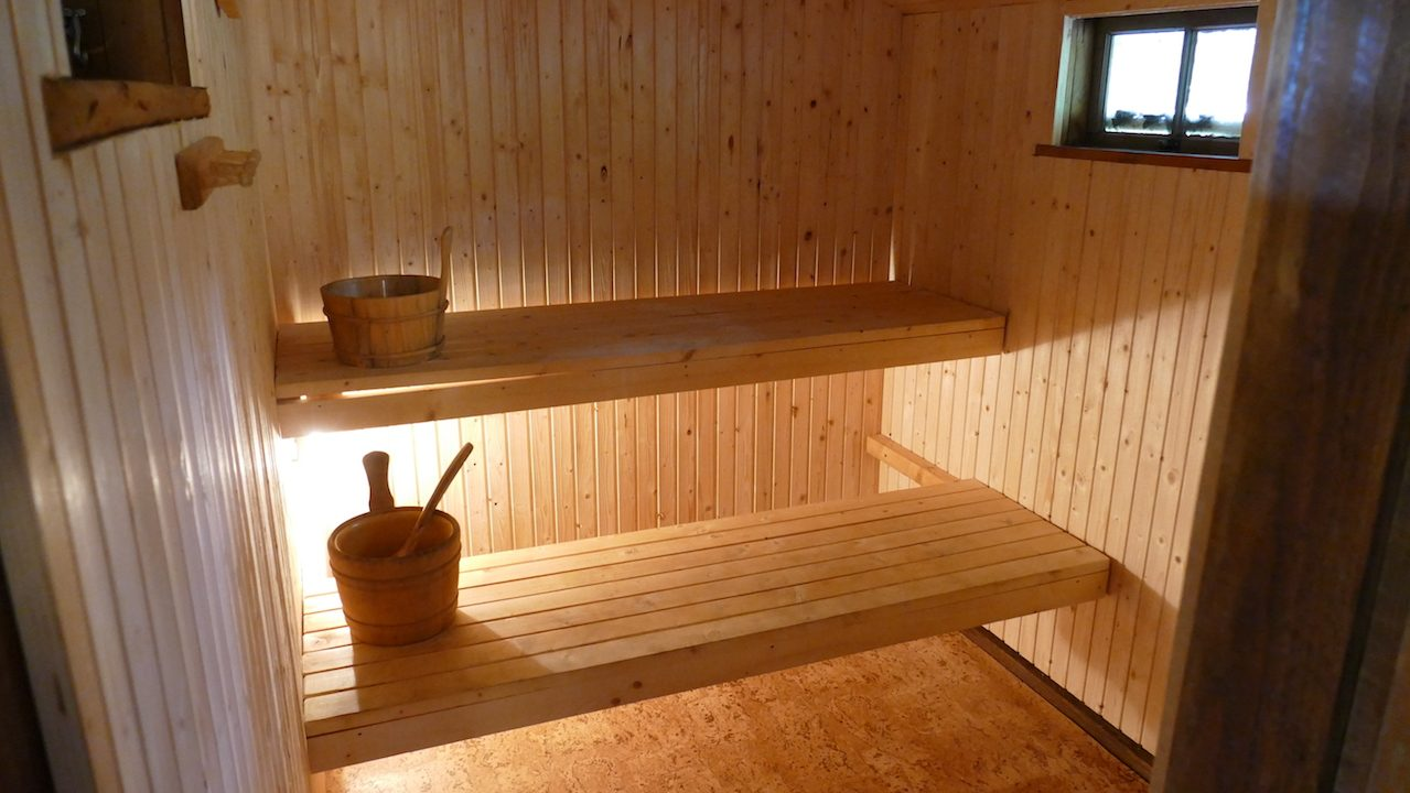 Sauna direkt am See Kiasjön