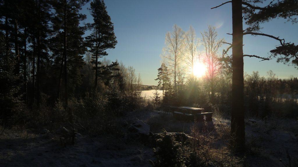 urlaub im blockhaus in schweden im winter