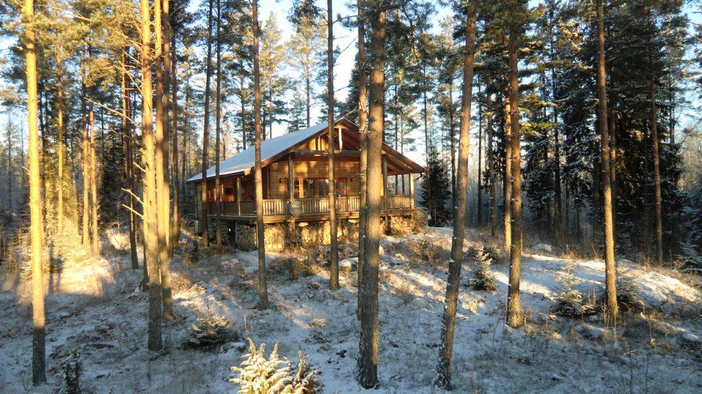 winter kälte schnee in Südschweden