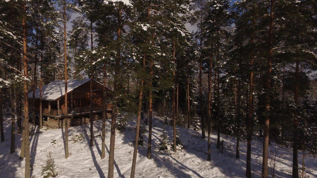 Dachsbau im Winter in Schweden - winterurlaub smaland