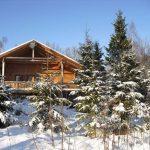 Winter im Haus Fuchsbau in Schweden